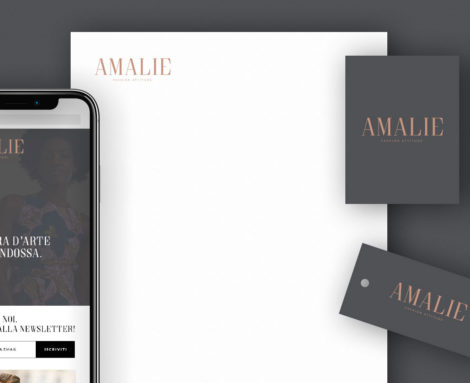 Brand identity Amalie Fashion Attitude Blank Create 2018