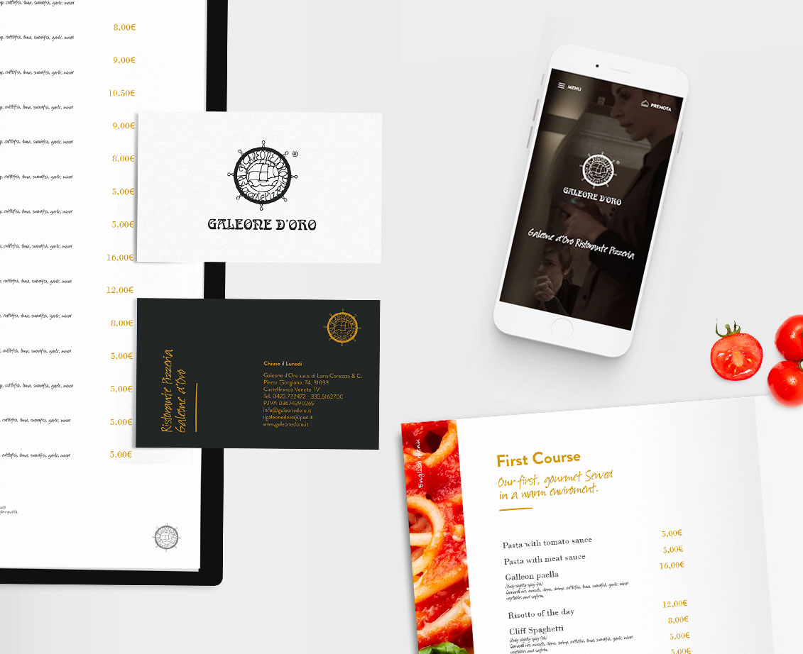 Brand identity Galeone d'Oro Pizzeria Ristorante Blank Create 2018