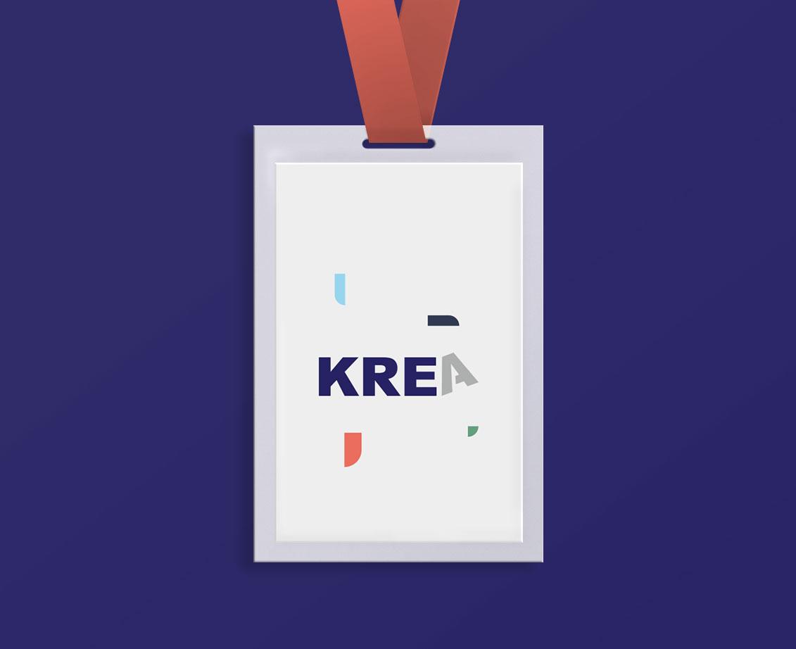 Brand identity KREA Blank Create 2018