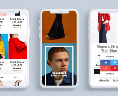 Applicativo Web Ecommerce Cycle Fashion Blank Create 2018