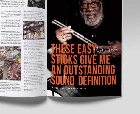 Copertina Techra Magazine Drumhead Blank Create 2018